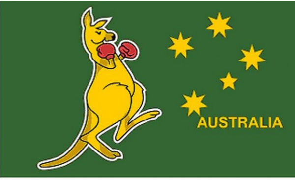 Flag Boxing Kangaroo