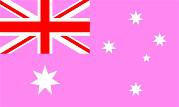 Flag Australia Pink
