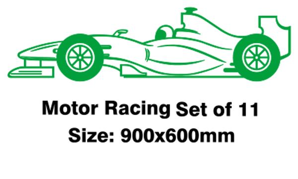 Motor racing flag - set of eleven 900 x600 millimetres