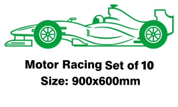 Motor Racing Set Of 10
