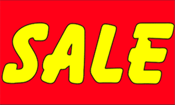 Sale Yellow On Red