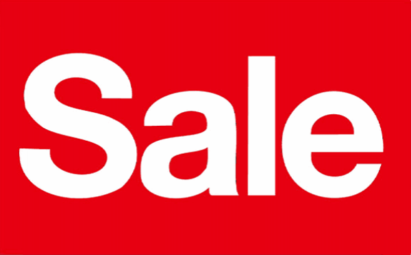 Flag Sale White on Red Uppercase S