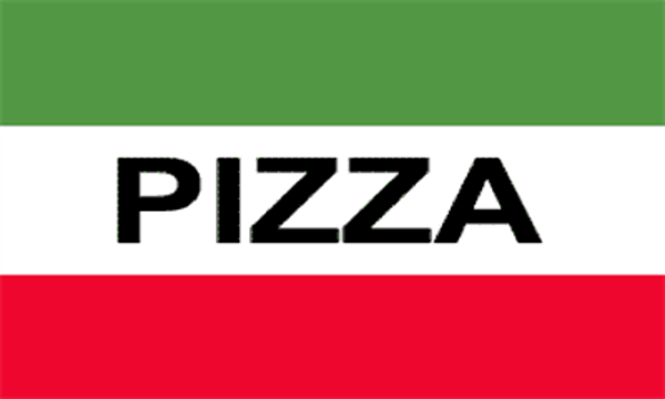 Pizza Red White Green