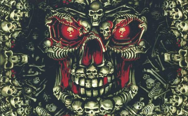 Skulls Multiple Dark Green