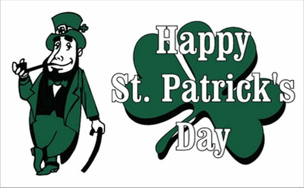 Happy Saint Patrick's Day White