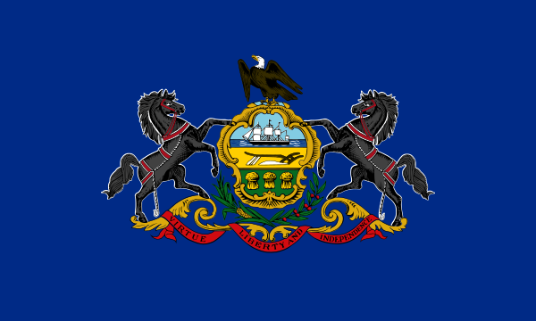Flag Pennsylvania State of United States America