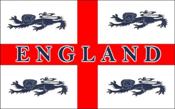 Flag England Four Lions