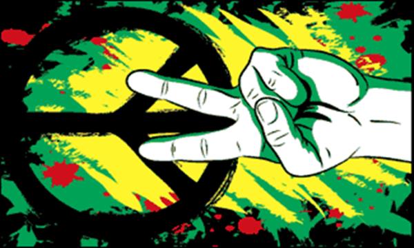 Flag Peace Graffiti