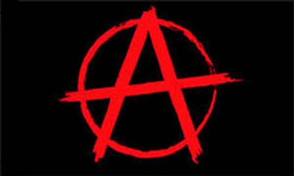 Anarchy Red On Black