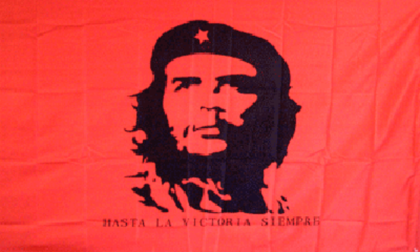 Che Guevara On Red Background