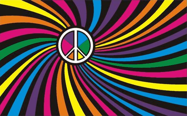 Flag Rainbow Swirl Peace