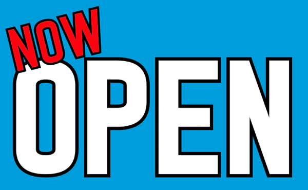 Now Open On Mid Blue