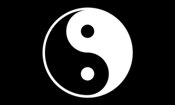 Yin And Yang On black