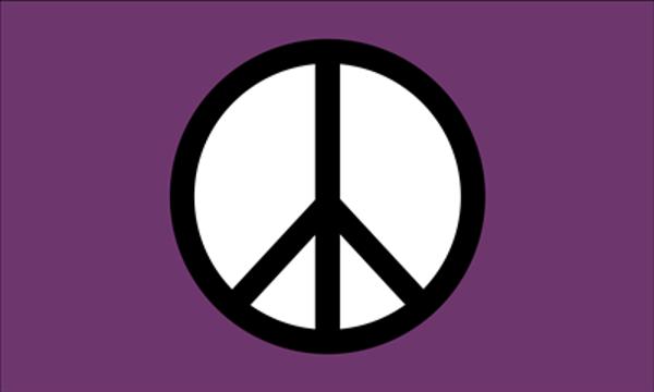 Peace Symbol Purple