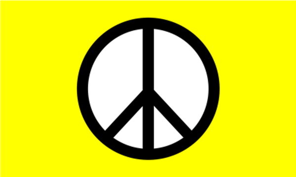 Flag Peace Symbol Yellow