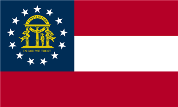 Flag Georgia State of United States
