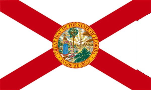 Flag Florida State of United States America