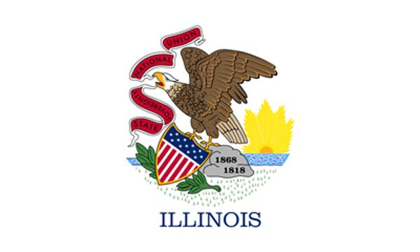 Flag Illinois State of United States