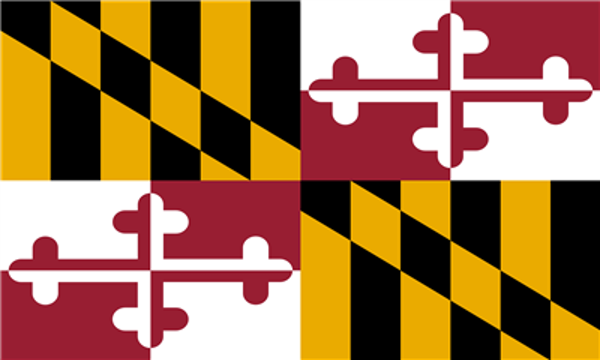 Flag Maryland State of United States America