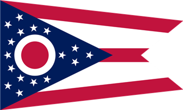 Flag Ohio State of United States America