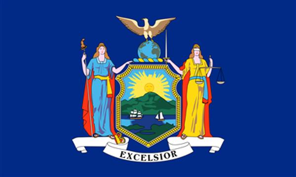 Flag United States America New York