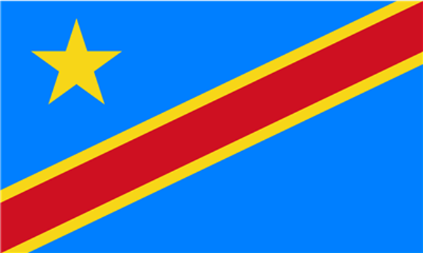 Flag Congo Democratic Republic