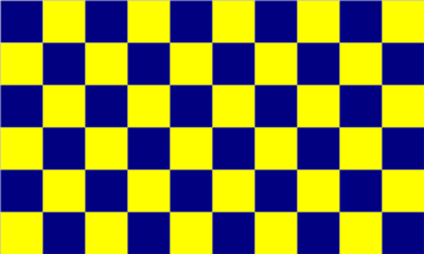 Chequered Blue Yellow