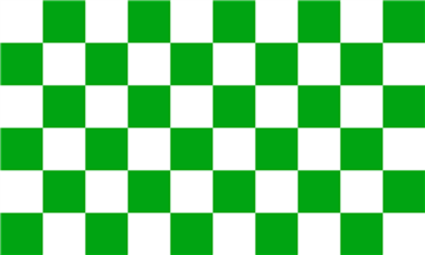 Chequered Green White