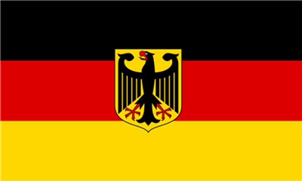 Flag Germany with Crest