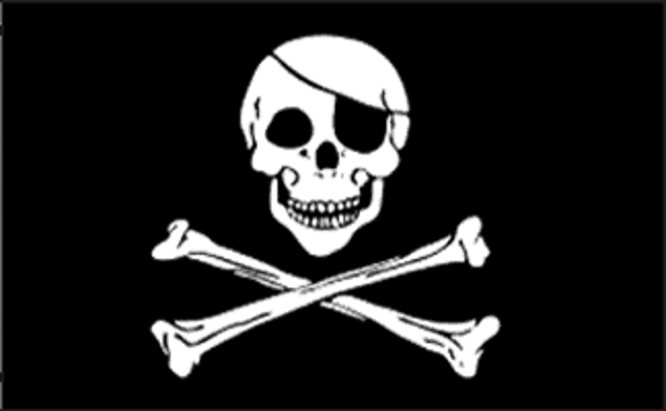 pirate flag (also known as jolly roger)