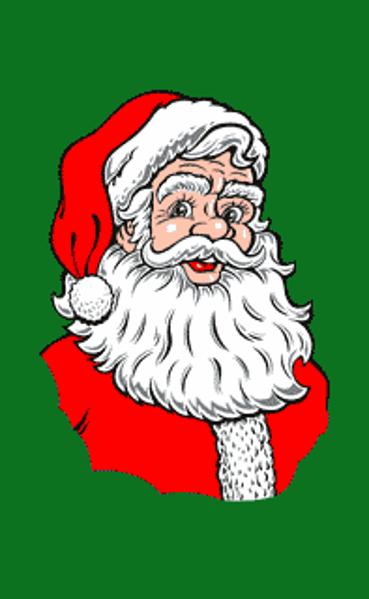 Flag Santa Vertical