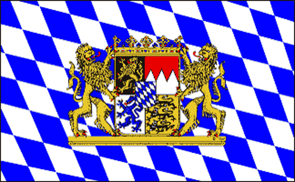 Flag Germany Bavaria Lion