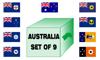 Australia States And Territories set