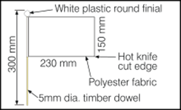 Dimensions for child hand wavers 230x150mm