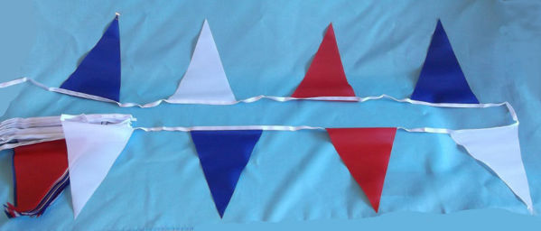 Red White And Blue Pennant Bunting