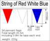 Dimensions for bunting 54 flags 280x190mm